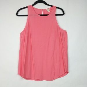 J Crew Coral Racerback Sleeveless Tank Top Blouse